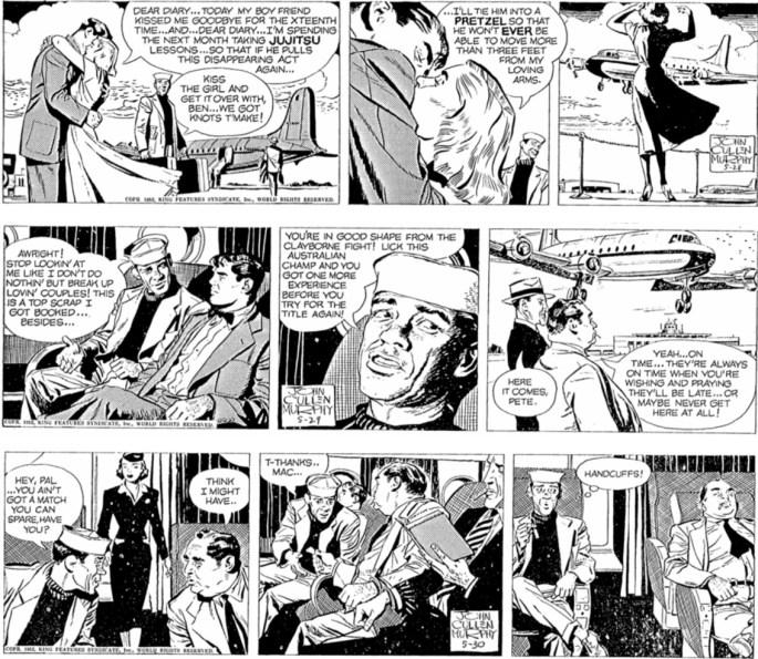 Motsvarande strippar i original, inklusive en av de strippar som saknas i tidningen Ben Bolt. ©KFS