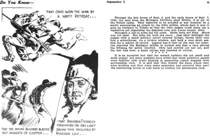 Do You Know från 7 september 1935. ©Booth