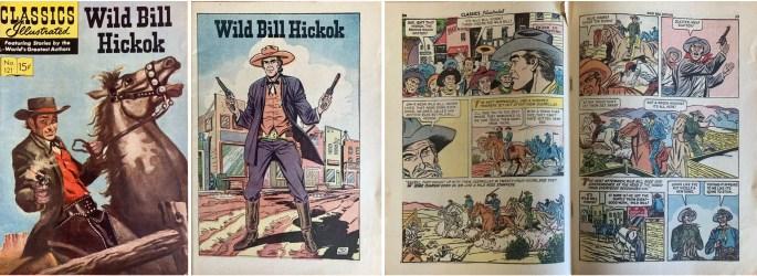Omslag, förstasida och mittuppslag, ur CI #121 (1954). ©Gilberton