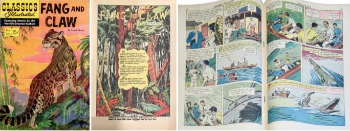 Omslag, förstasida och mittuppslag, ur CI #123 (1954). ©Gilberton