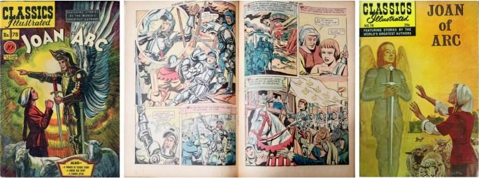 Omslag (1950), mittuppslag, och nytt omslag (1969) till CI #78. ©Gilberton