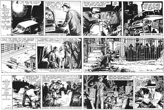 """Motsvarande dagsstrippar från 19-21 december 1938 ur episoden """"The Shoes of Cinderella"""". ©KFS"""