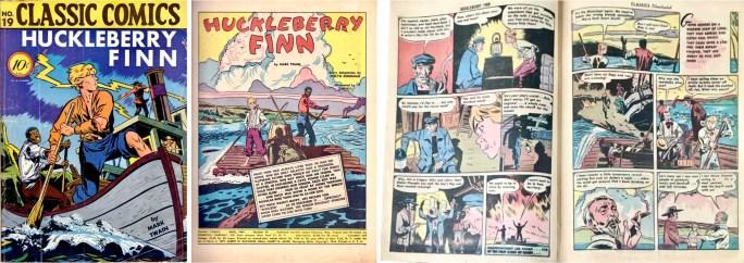 Omslag, förstasida och ett uppslag ur Classic Comics #19 (1944). ©Gilberton