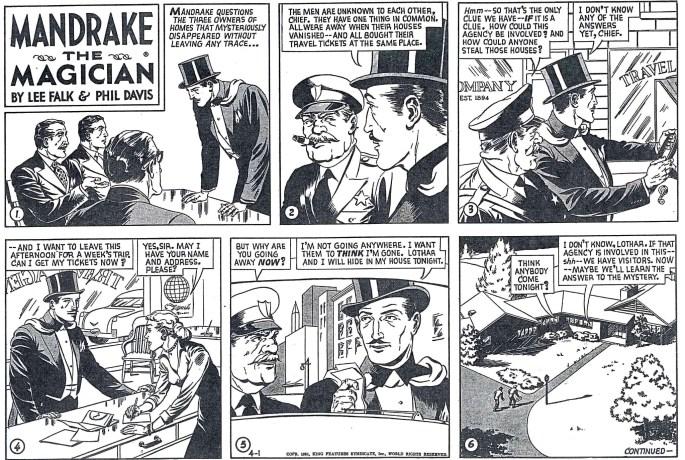 Motsvarande söndagsstripp i original från 1 april 1951. ©KFS