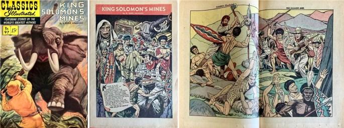 Omslag, förstasida och mittuppslag, ur CI #97 (1952). ©Gilberton