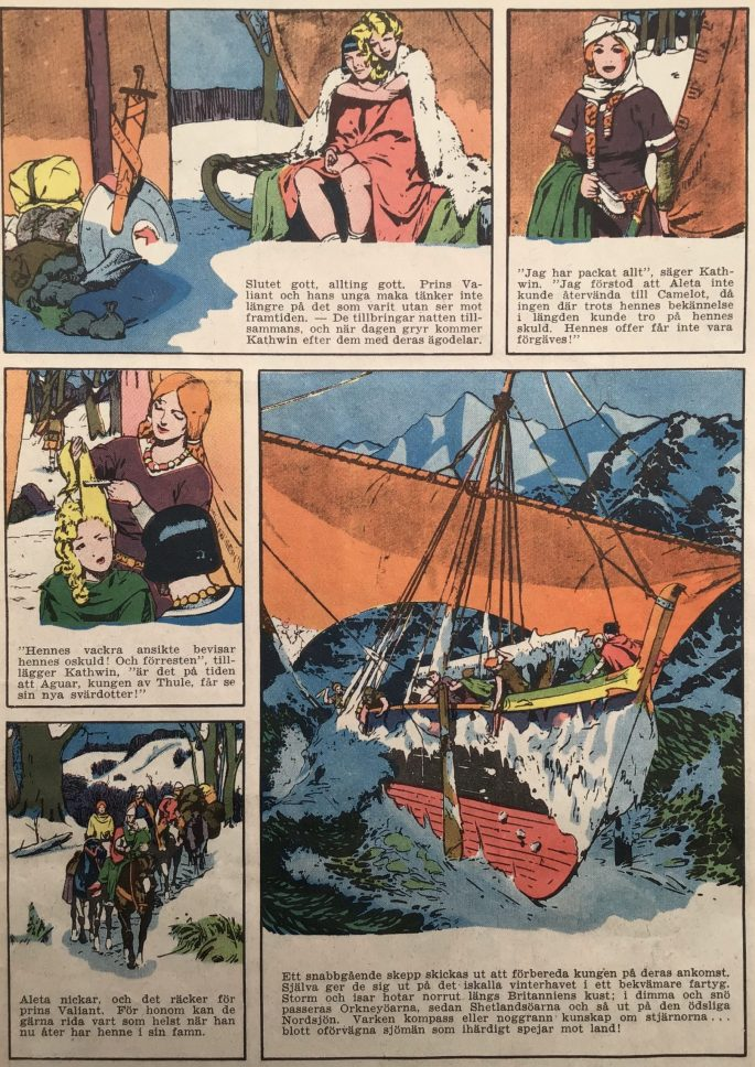 Inledningen till episoden ur Stjärnbragder nr 7 (1953). ©Bulls