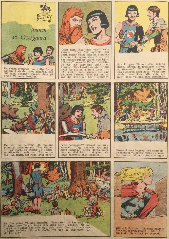 Avslutningen av episoden inleder publiceringen i Stjärnbragder nr 7 (1953). ©Bulls