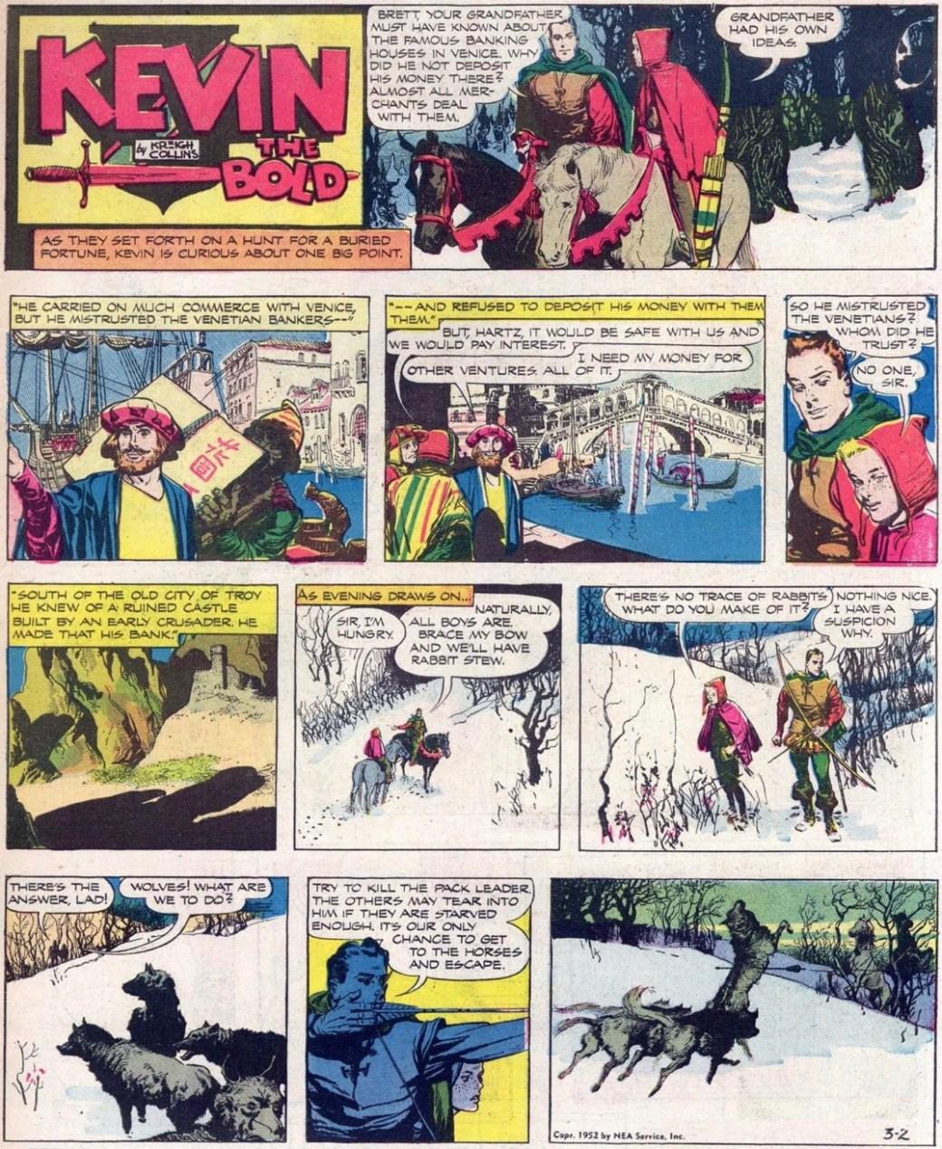 En söndagsstripp av Kreigh Collins från 2 mars 1952. ©NEA