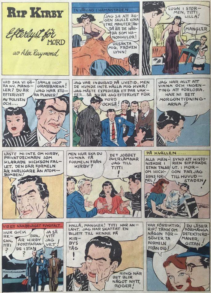 Inledningen av episoden i Stjärnbragder nr 7, 1953. ©Bulls