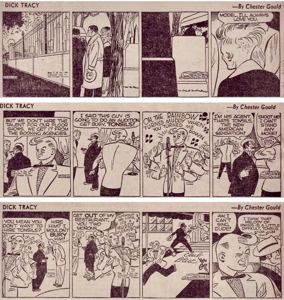 Slutet på episoden Model Jones, och början på Polypen-episoden, från 27-29 mars 1952. ©CTS