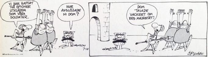 En dagsstripp från 10 juli 1969, ur Comics nr 1. ©Europa Press
