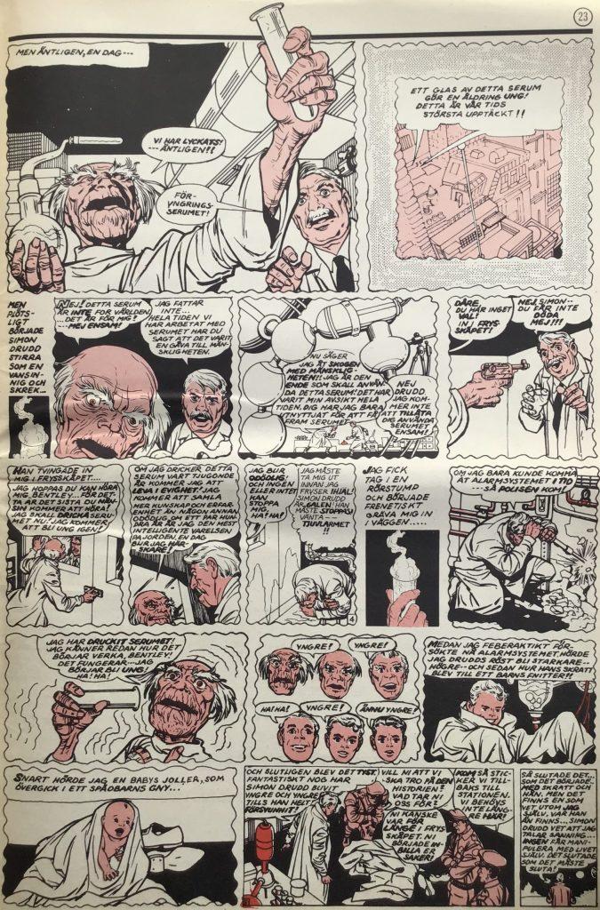 En sida ur serien i Serie-Pressen nr 1, 1971. ©Marvel
