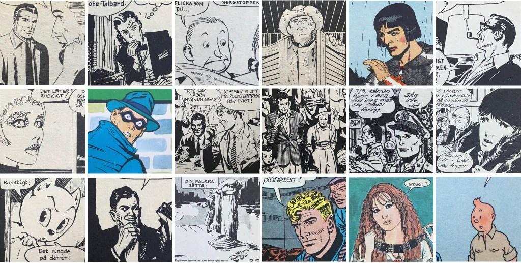 Fler seriefigurer ur äventyrsserier.