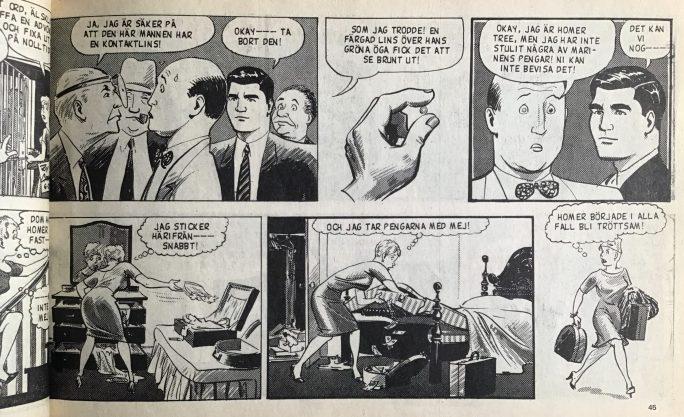 En sida ur Veckans serier nr 1, 1972. ©Bulls