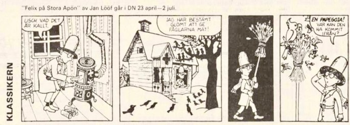 Inledande stripp i episoden, från DN 23 april 1988. ©PIB