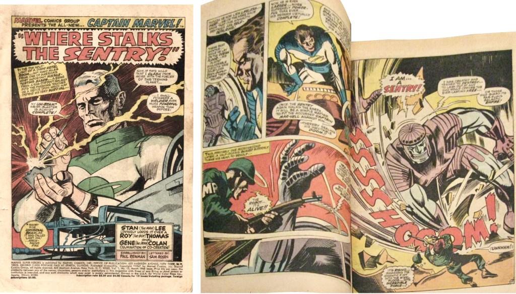 Förstasida och ett uppslag ur Marvel Super-Heroes #13 (1968). ©Marvel