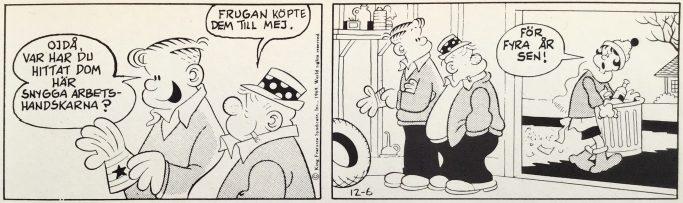 En dagsstripp från 6 december 1969, ur Comics nr 1. ©Bulls