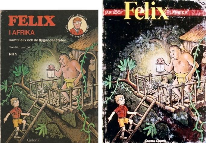 Omslag till seriealbum från 1975 och 1991 med episoden. ©Carlsen