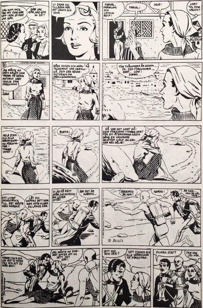 En sida med Mandrake ur Serie-Pressen nr 13, 1972. ©Bulls