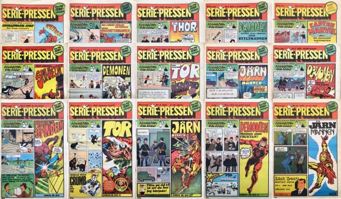 De första numren av Serie-Pressen 1971-72 var i tabloidformat. ©Saxon&Lindström