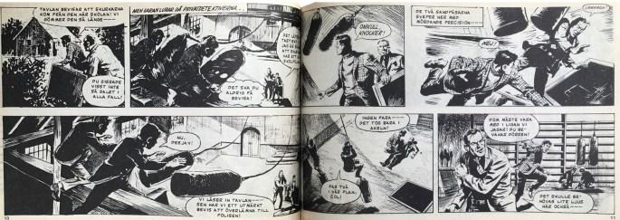Ett uppslag med Simon Lash ur Veckans serier, nr 24, 1972. ©IPC