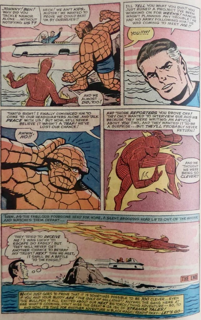 Avslutande sida från serien ur Strange Tales #125 (1964). ©Marvel