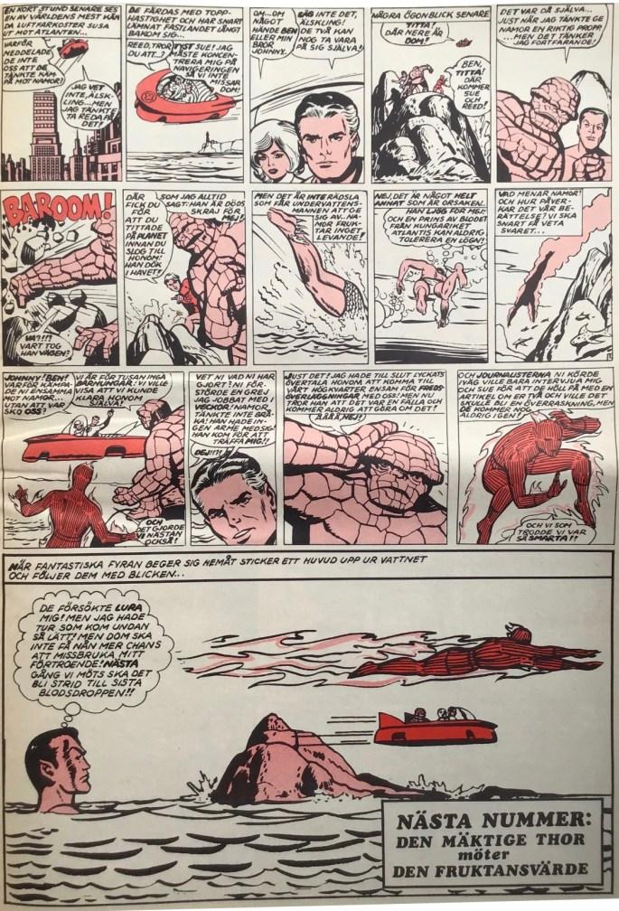 Avslutande sida ur Serie-Pressen nr 2, 1971. ©Marvel