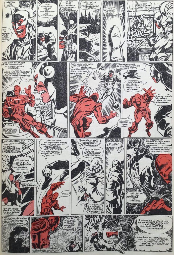 En sida ur Serie-Pressen nr 4, 1972. ©Marvel