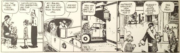 Den inledande strippen med Lilla föräldralösa Annie i Comics nr 3. ©Europa Press