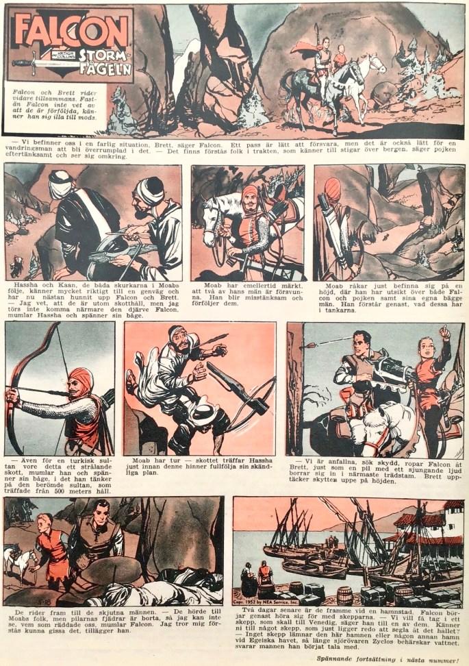 Falcon Stormfågeln ur Allas veckotidning, nr 15 från 10 april 1953. ©Aller/PIB