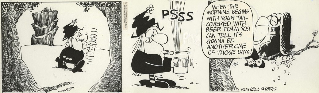 Original till en dagsstripp från 22 juli 1972. ©CTS