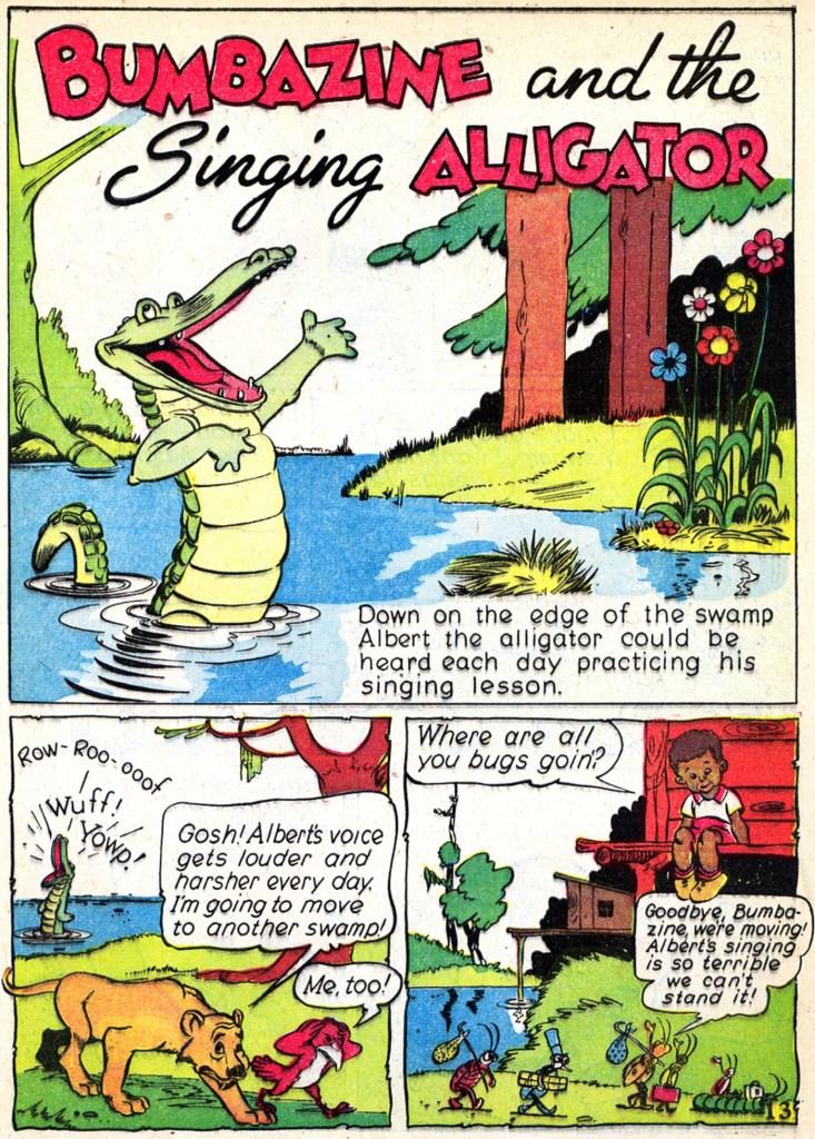 Inledande sida till serien med Pogo, i Animal Comics #2. ©Dell