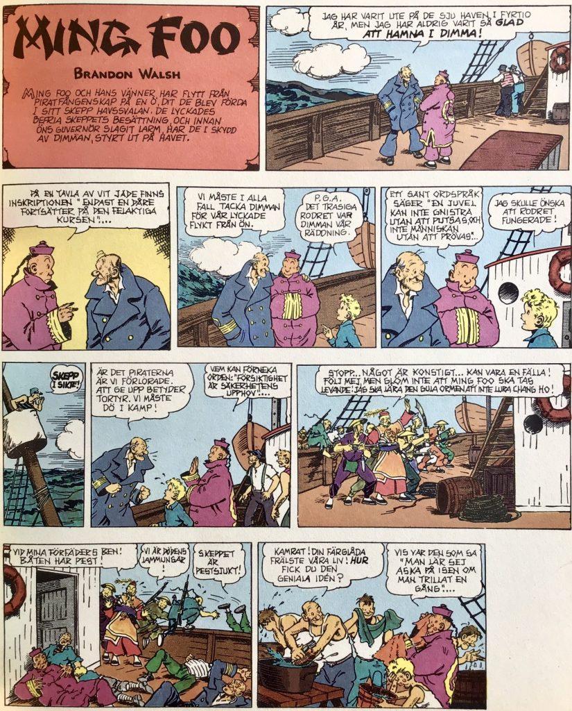 Inledande sida med Ming Foo i Comics 3 (1972). ©Bulls