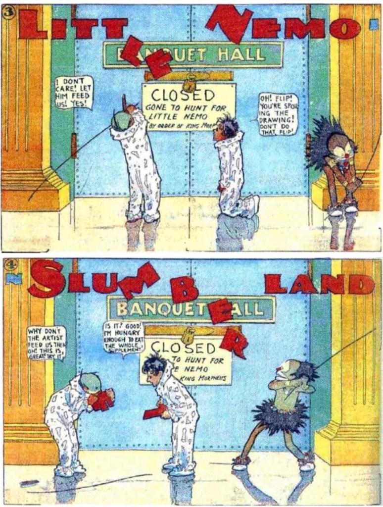 Serierutorna 3 och 4 uppförstorade, så,att de närmar sig formatet i den tryckta dagstidningen 2007. ©New York Herald