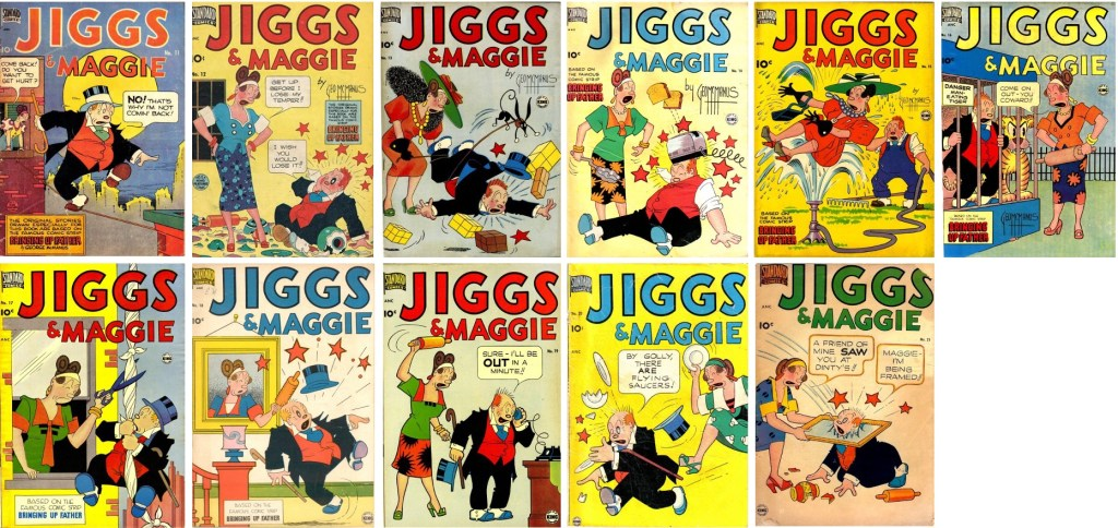Omslag till Jiggs and Maggie #11–21. ©Standard