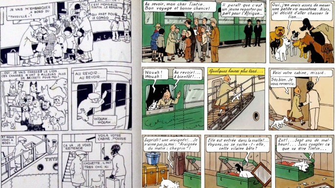 Redigering av Tintin till seriealbum