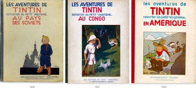 Denne tre första seriealbumen. ©Éditions du Petit «Vingtième»