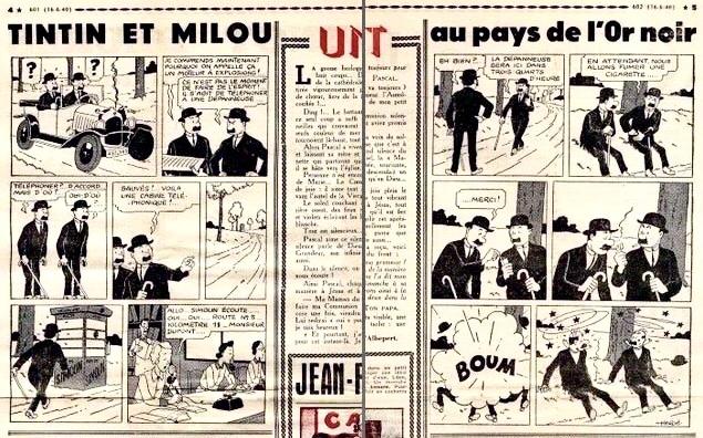 Tintin i Cœurs Vaillants N. 24 från 16 juni 1940. ©Hergé-Moulinsart