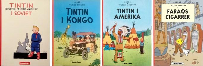 Tintins äventyr i kronologisk ordning (2003-04). ©Carlsen Comics