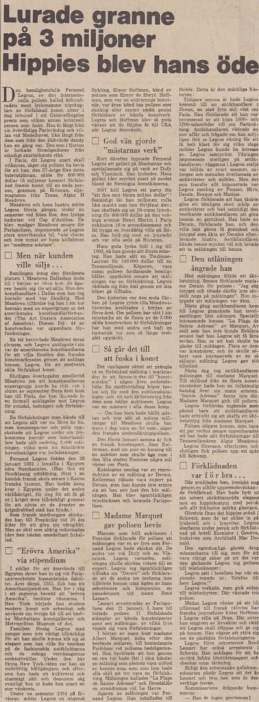 Artikeln i DN den 2 juni 1968.