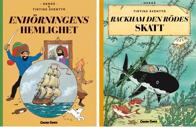 Tintins äventyr i storformat (2012). ©Carlsen Comics