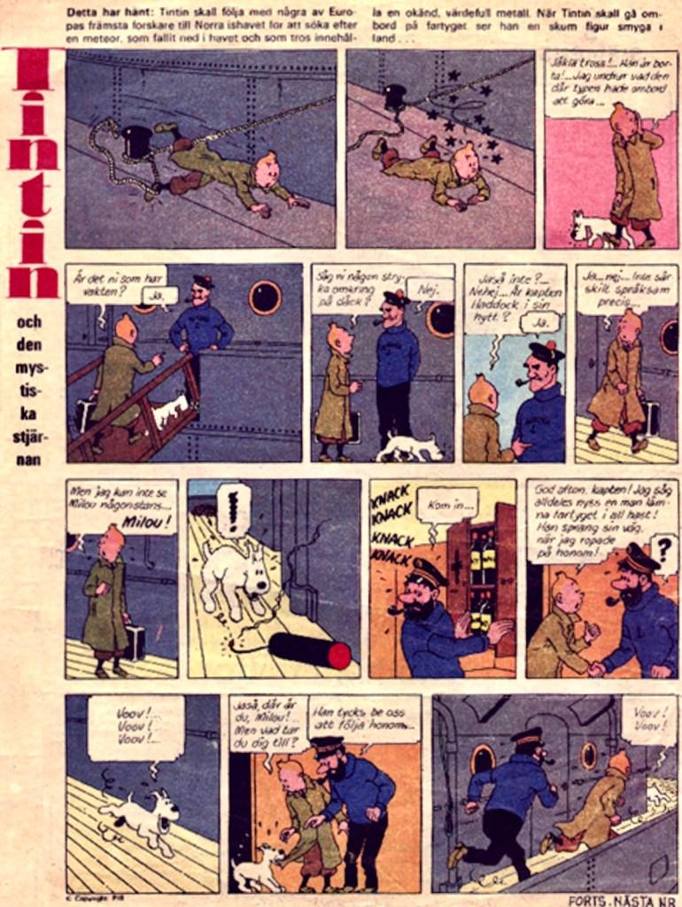 Den mystiska stjärnan med Tintin ur Året Runt nr 46, 1971.