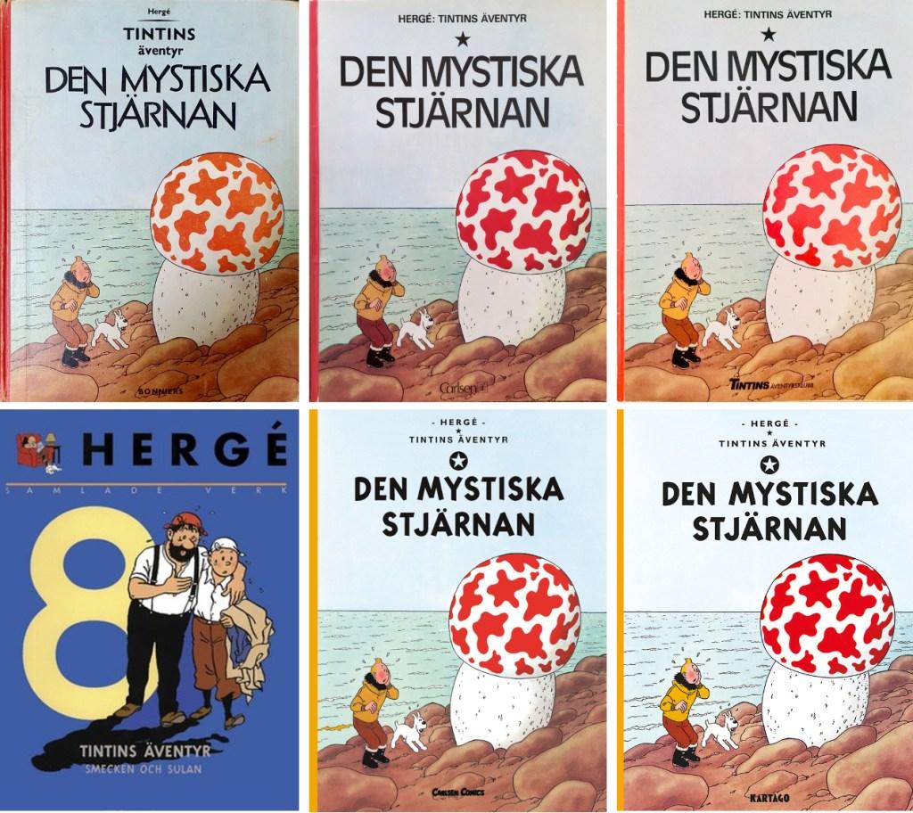 Den mystiska stjärnan har utkommit i många utgåvor. ©Illustrationsförlaget/Bonniers/Carlsen/Kartago/Nordisk bok