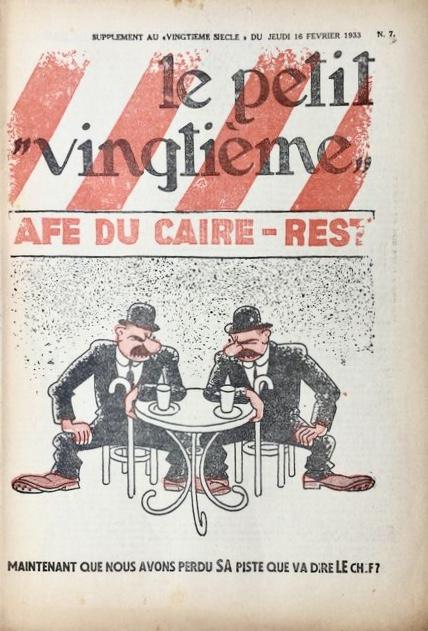 Dupond och Dupont på omslaget till Le Petit Vingtième från 16 februari 1933.