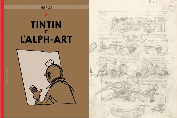 Tintin et l'Alph-Art blev Hergés ofullbordade. ©Hergé-Moulinsart