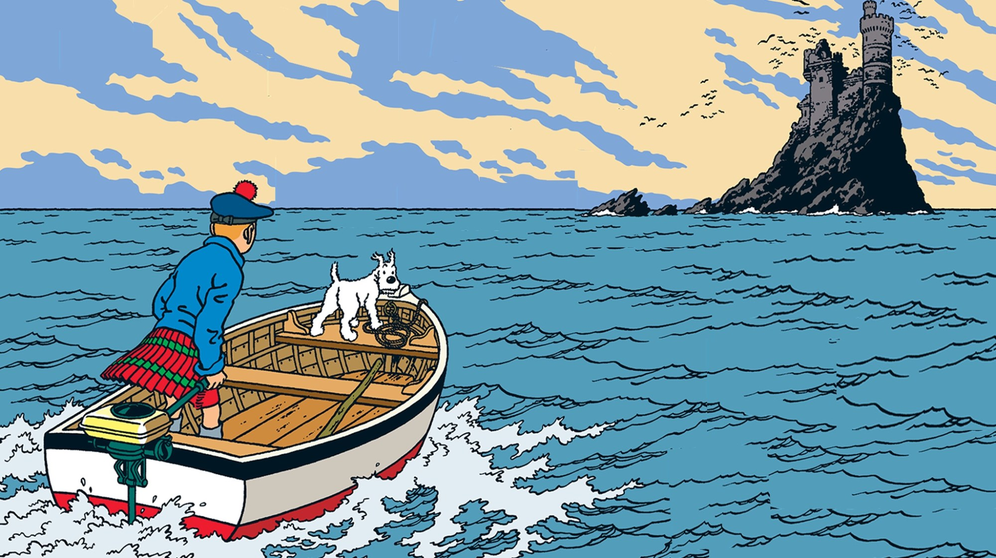 Den svarta ön, med Tintin