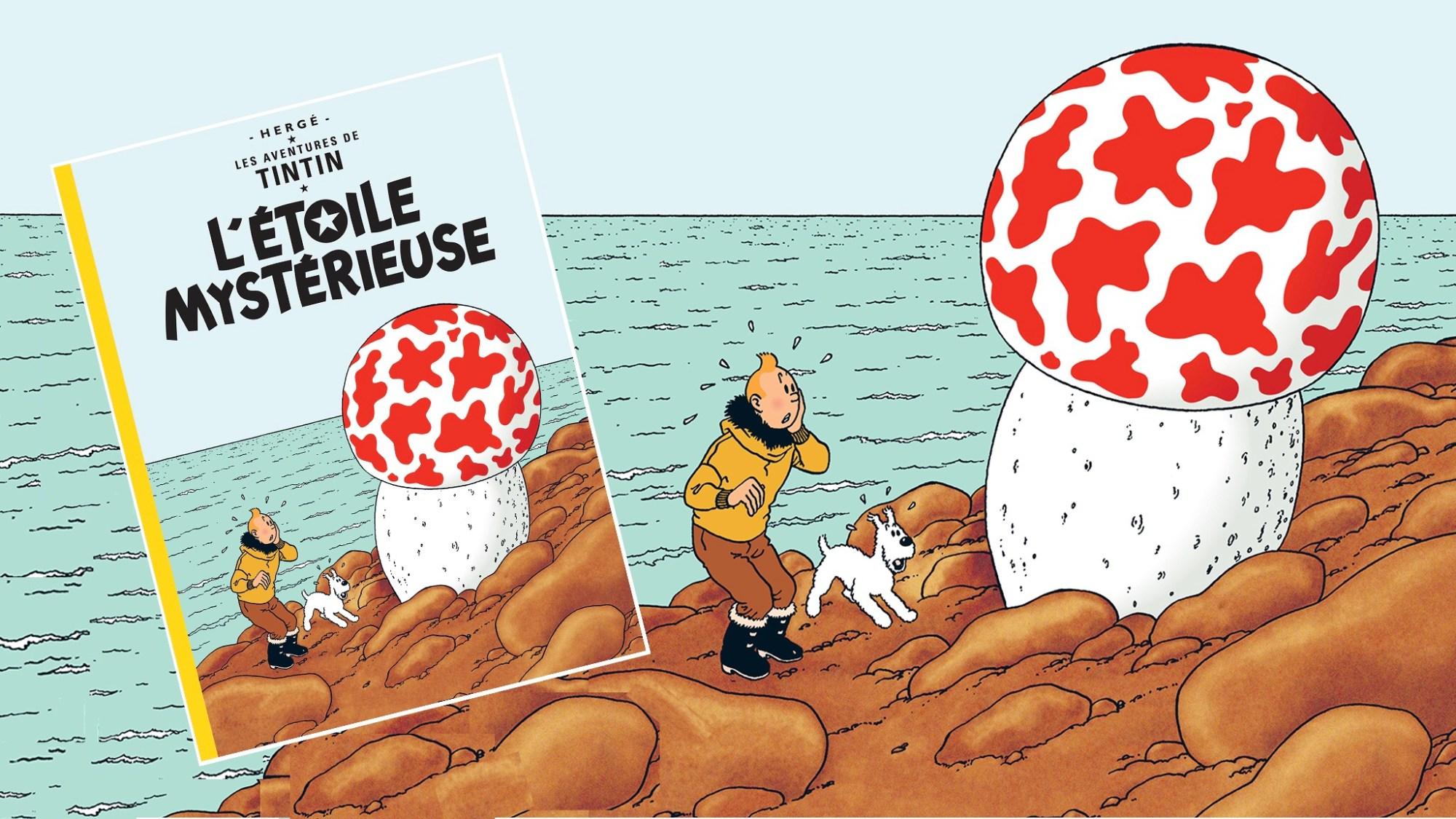 Den mystiska stjärnan, med Tintin