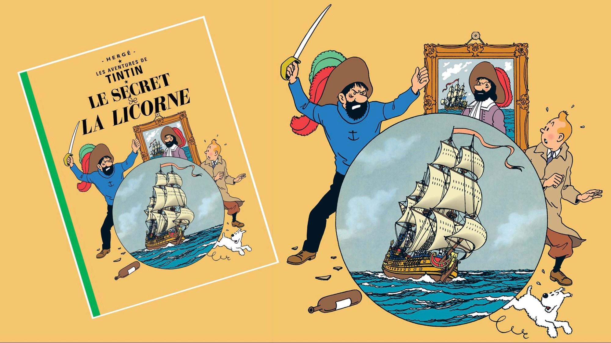 Enhörningens hemlighet, med Tintin
