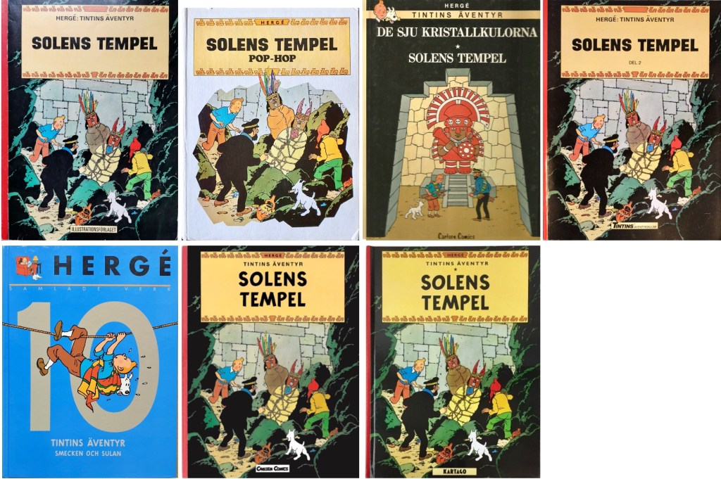Solens tempel har utkommit med flera utgåvor. ©Bonniers/Carlsen/Kartago/Cobolt/Nordisk bok
