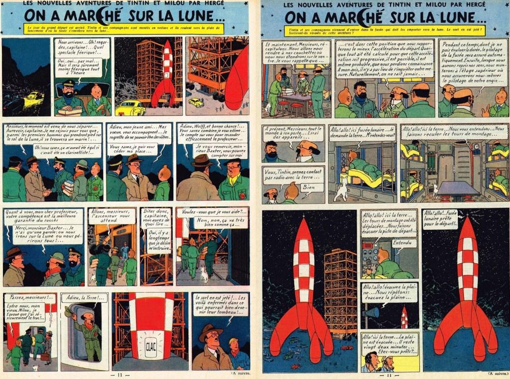 Införande nr 52-53 i Le Journal de Tintin. ©Hergé-Moulinsart
